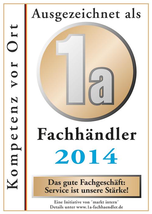 Zertifikat Bohn Küchen 2014