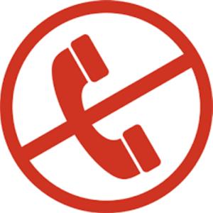 Telefon durchgestrichen